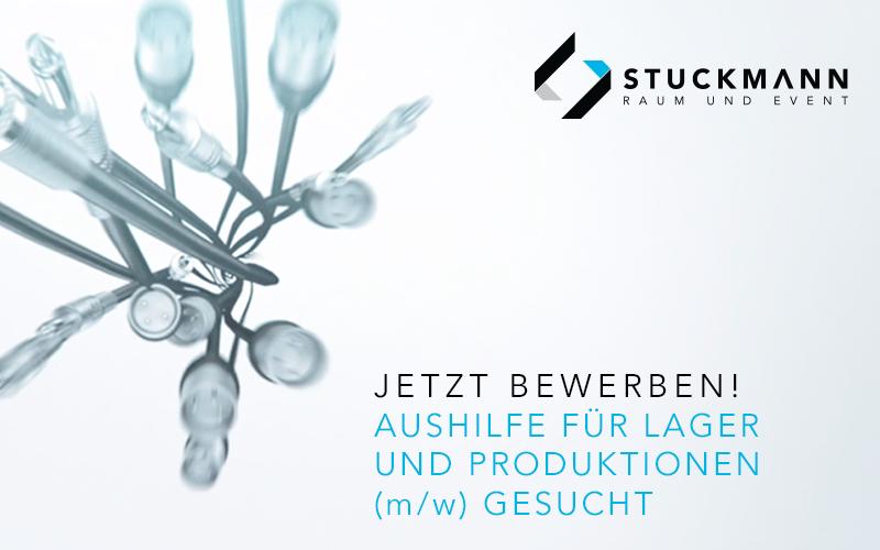 Aushilfe für Lager und Produktionen (m/w) gesucht | Stuckmann GmbH - Raum und Event