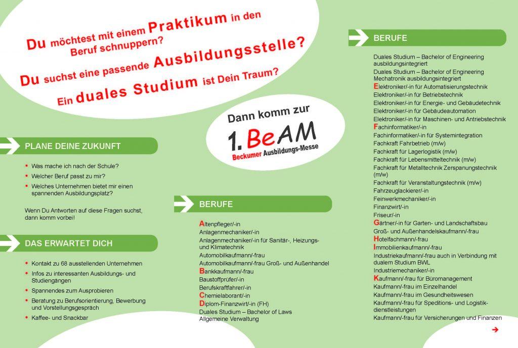 BeAM - Beckumer Ausbildungsmesse 01